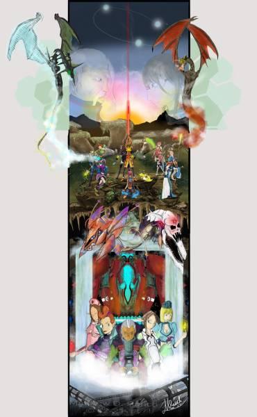 Phantasy Star Online 10th Ann.Tribute Illustration