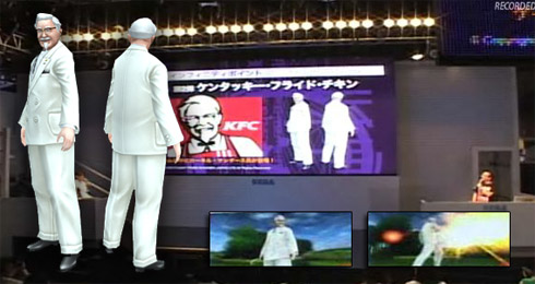 Colonel Sanders in Phantasy Star Portable 2 Infinity